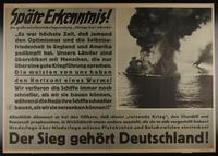 1995.96.76 front Nazi propaganda poster  Click to enlarge