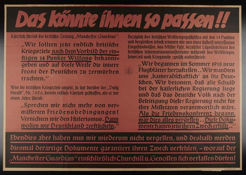 1995.96.8 front Nazi propaganda poster
