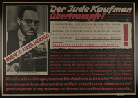 1995.96.82 front Nazi propaganda poster  Click to enlarge