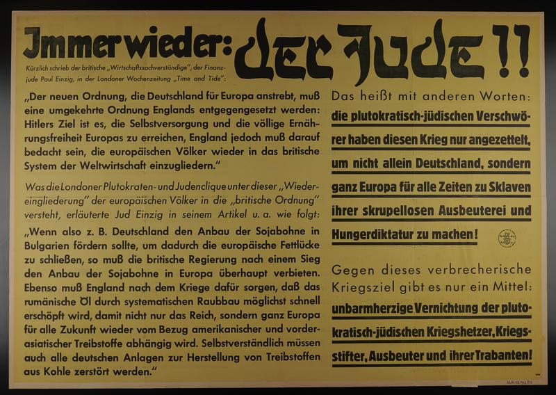 1995.96.83 front Nazi propaganda poster