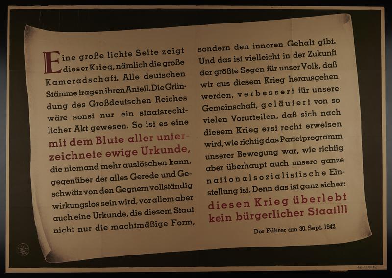 1995.96.92 front Nazi propaganda poster