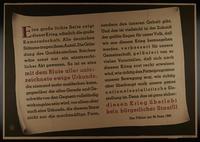 1995.96.92 front Nazi propaganda poster  Click to enlarge