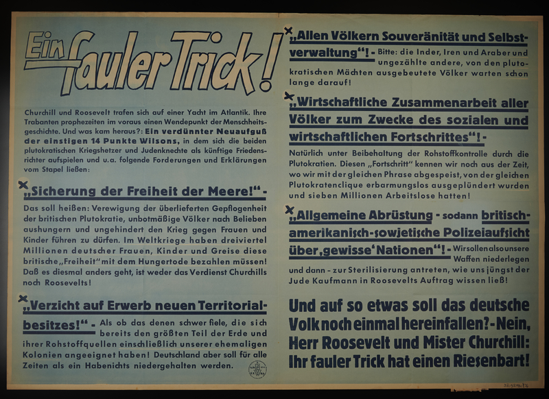 1995.96.98 front Nazi propaganda poster