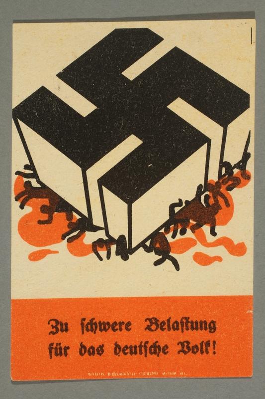 1995.97.11 front Anti-Nazi political leaflet