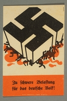 1995.97.11 front Anti-Nazi political leaflet  Click to enlarge