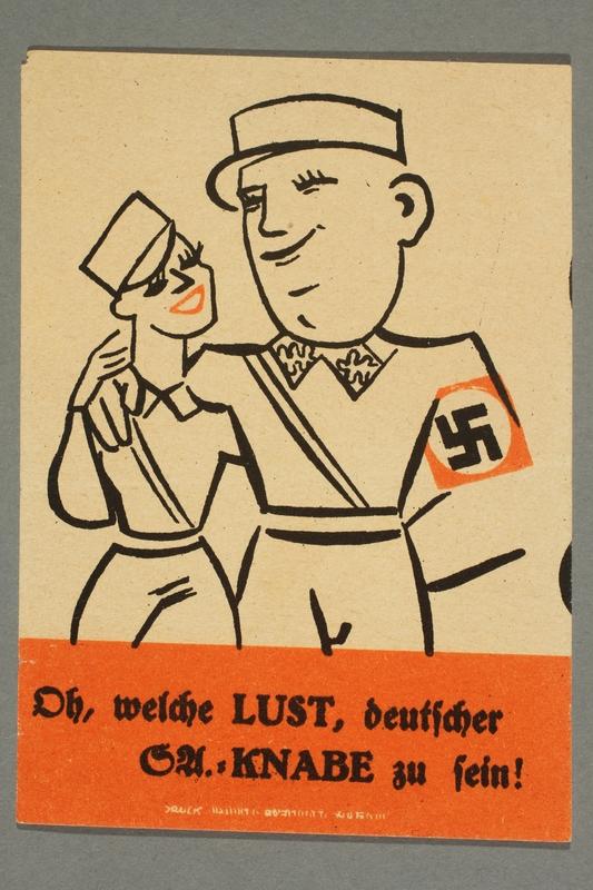 1995.97.12 front Anti-Nazi political leaflet