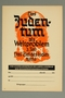 Flier for a lecture on the worldwide Jewish conspiracy by the Reich Propaganda Agency