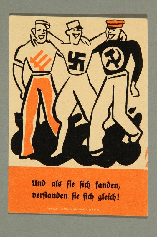 1995.97.8  front Anti-Nazi political leaflet