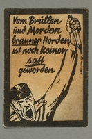 1995.97.9 front Anti-Nazi political leaflet  Click to enlarge