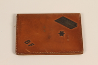 1996.107.3 front Handmade leather ID case made for a Jewish work leader  Click to enlarge