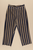 1996.116.1 front Concentration camp uniform pants worn by Polish Jewish inmate  Click to enlarge