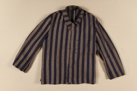 1996.116.2 front Concentration camp uniform jacket worn by Polish Jewish inmate  Click to enlarge
