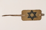 Armband with buckle and a blue Star of David