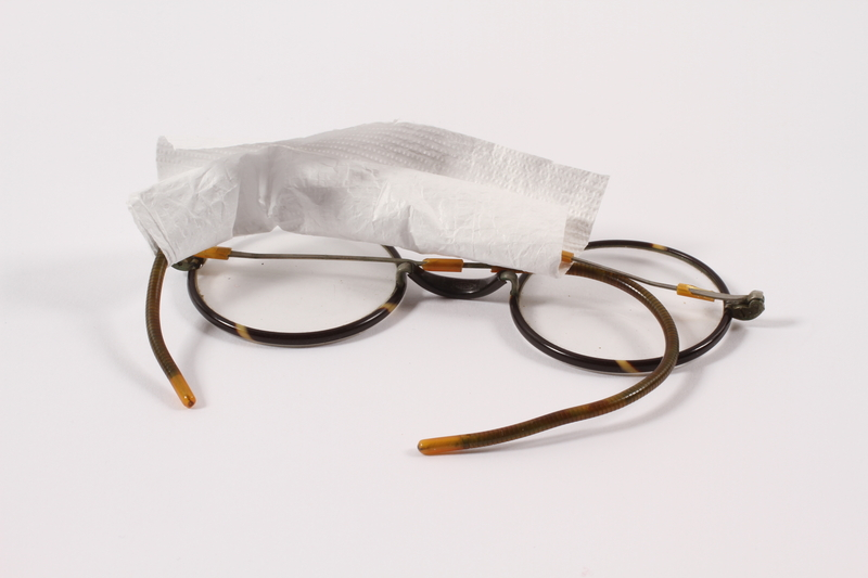 1996.149.1 front Eyeglasses belonging to a Polish Jewish inmate in Ravensbrueck concentration camp