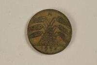 1996.163.4 front Fake German coin, 10 Reichpfennig 1994  Click to enlarge