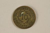 1996.163.4 back Fake German coin, 10 Reichpfennig 1994  Click to enlarge