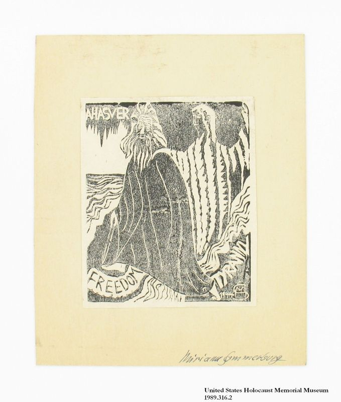 Miriam Sommerburg Artwork Collection Image, 1989.316.2 Woodcut