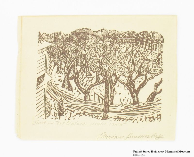Miriam Sommerburg Artwork Collection Image, 1989.315.3 Woodcut