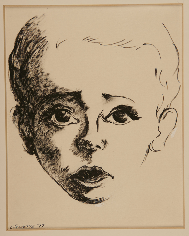 1989.318.1.1 front Portrait of a young boy who did not survive drawn postwar by his mother