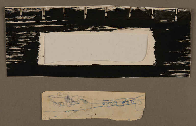 1989.318.1.2 front Child's sketch of a train by a young boy who did not survive