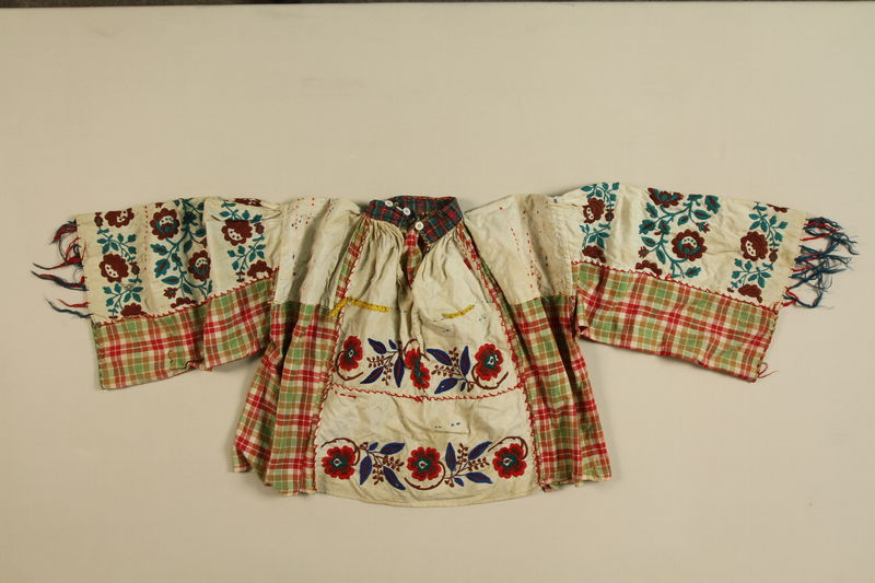 1989.319.2 front Multiprint shirt worn by a Romanian Romani
