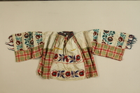1989.319.2 front Multiprint shirt worn by a Romanian Romani  Click to enlarge
