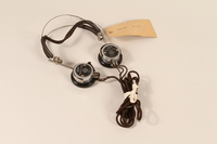 1996.36.10 front Rudolph Hess's Nuremberg war crimes trial headphones  Click to enlarge