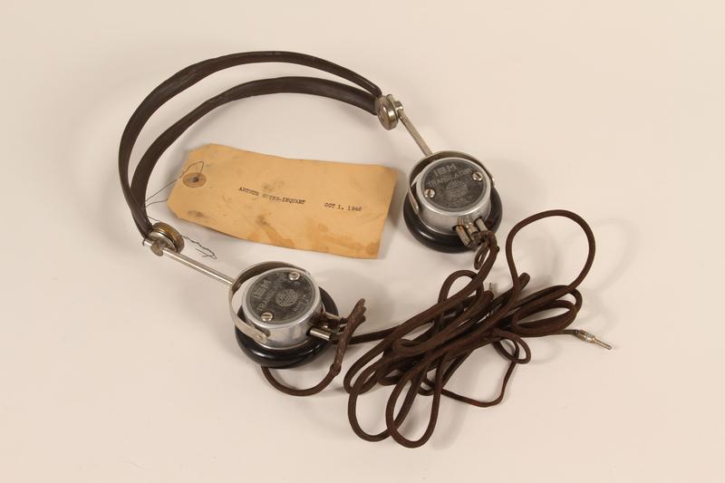 1996.36.13 front Arthur Seyss-Inquart's Nuremberg war crimes trial headphones