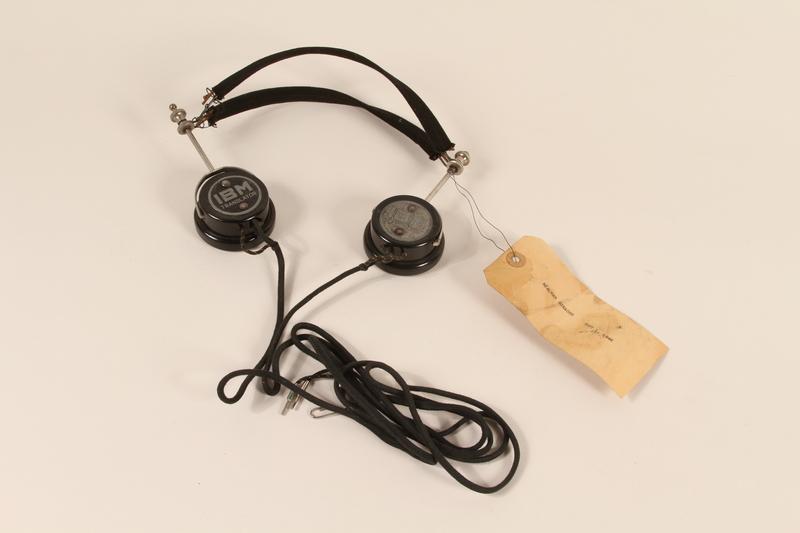 1996.36.16 front Hjalmar Schacht's Nuremberg war crimes trial headphones