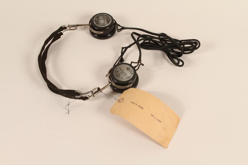 1996.36.17 front Albert Speer's Nuremberg war crimes trial headphones
