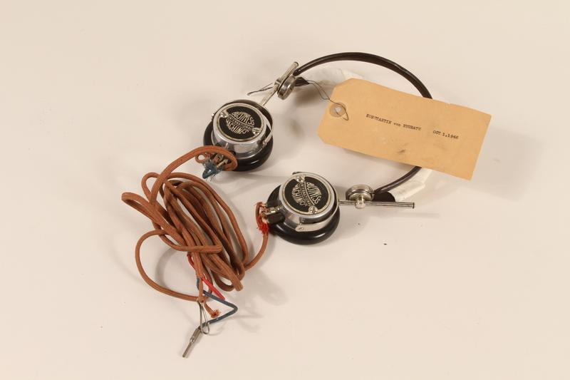 1996.36.19 front Konstantin von Neurath's Nuremberg war crimes trial headphones