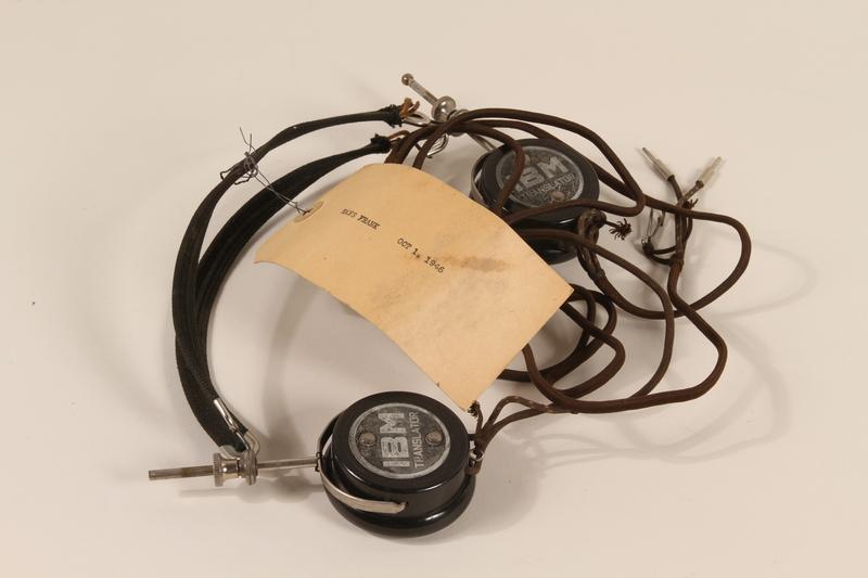 1996.36.2 front Hans Frank's Nuremberg war crimes trial headphones