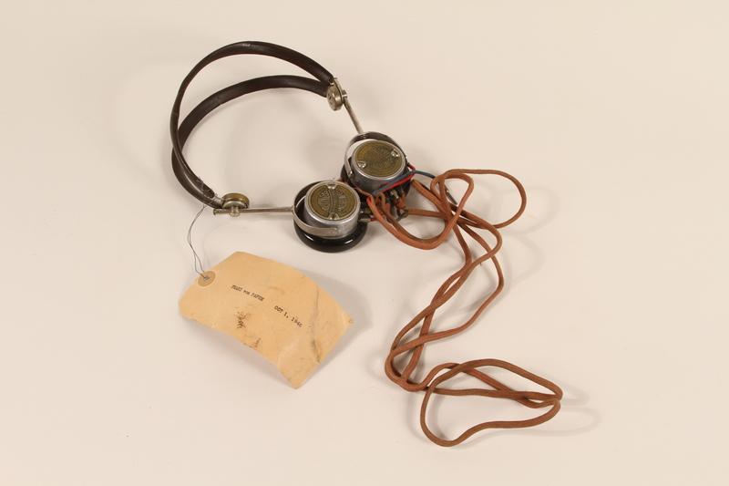 1996.36.20 front Franz von Papen's Nuremberg war crimes trial headphones