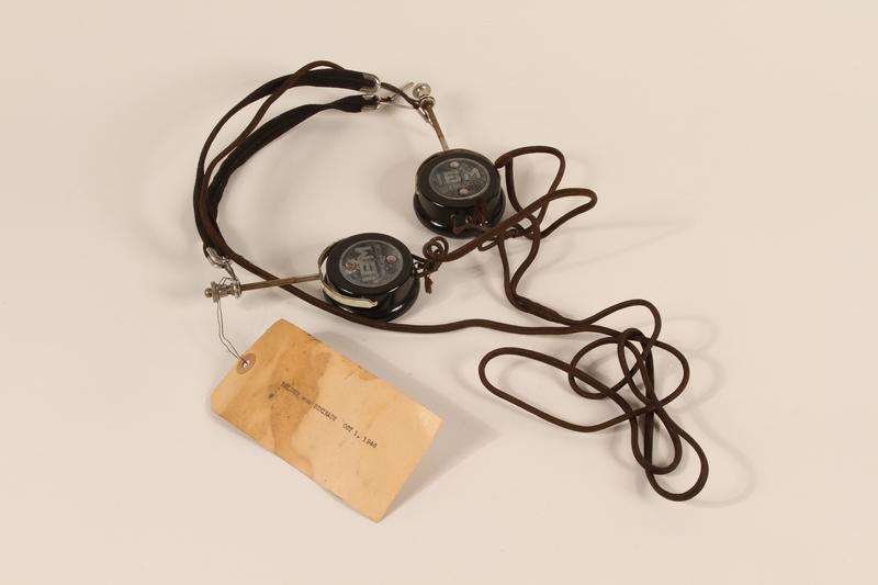 1996.36.21 front Baldur von Schirach's Nuremberg war crimes trial headphones
