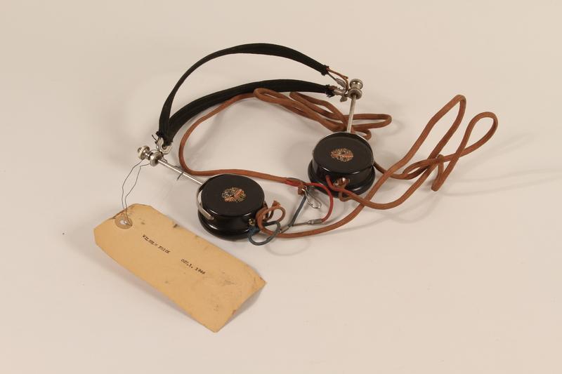 1996.36.3 front Wilhelm Frick's Nuremberg war crimes trial headphones