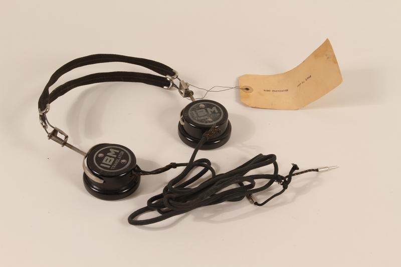 1996.36.4 front Hans Fritzsche's Nuremberg war crimes trial headphones