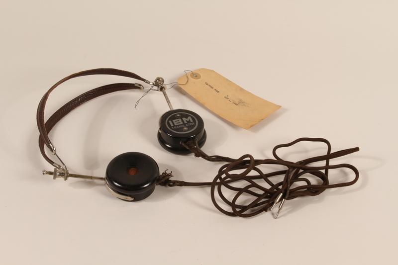 1996.36.5 front Walther Funk's Nuremberg war crimes trial headphones