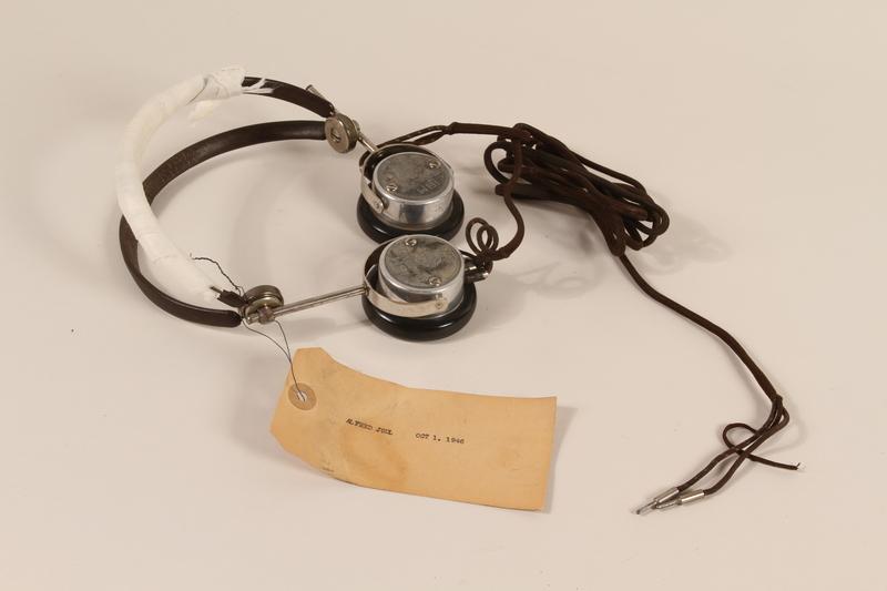 1996.36.7 front Alfred Jodl's Nuremberg war crimes trial headphones
