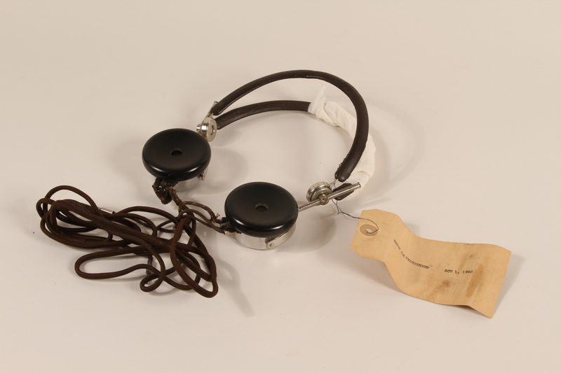 1996.36.8 front Ernst Kaltenbrunner's Nuremberg war crimes trial headphones