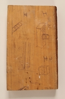 1996.38.1 back Wooden plaque with the Hashomer Hatzair emblem given to a US soldier  Click to enlarge