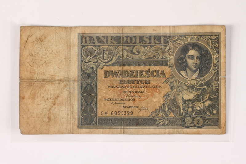 1996.23.1.2 front Poland, 20 zloty note