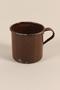 Brown enamel mug used by a Polish Jewish concentration camp prisoner