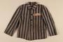 Concentration camp uniform jacket worn by a Polish Jewish prisoner