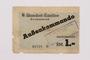 Buchenwald Aussenkommando scrip for HASAG slave labor camp, 1 Reichsmark, given to a Jewish refugee