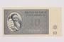 Theresienstadt ghetto-labor camp scrip, 10 kronen note