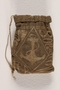 Hand-made tobacco pouch from Dachau concentration camp