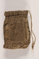 1996.59.14 back Hand-made tobacco pouch from Dachau concentration camp  Click to enlarge