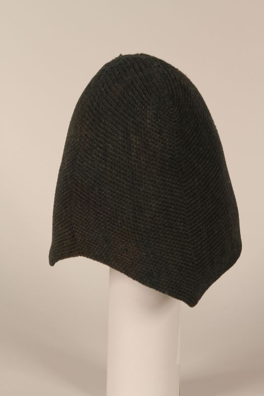 1996.73.12 side Wool cap worn by concentration camp prisoner