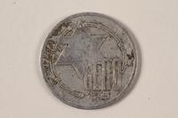 1996.74.2 front Łódź (Litzmannstadt) ghetto scrip, 10 mark coin  Click to enlarge