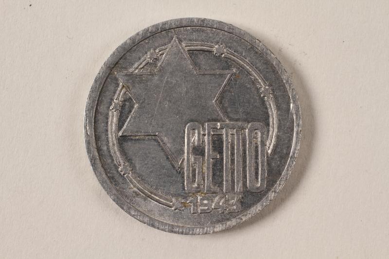 1996.74.5 front Łódź (Litzmannstadt) ghetto scrip, 10 mark coin